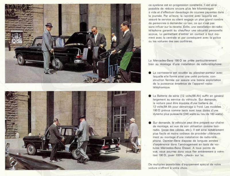 Brochure de 1963 sur les W110 190 D Taxi Taxi_p13