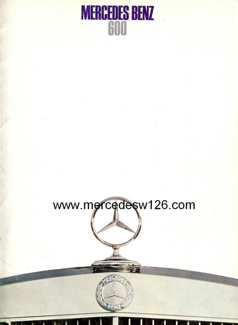 Catalogue de 1968 sur la Mercedes W100 600 W100_110