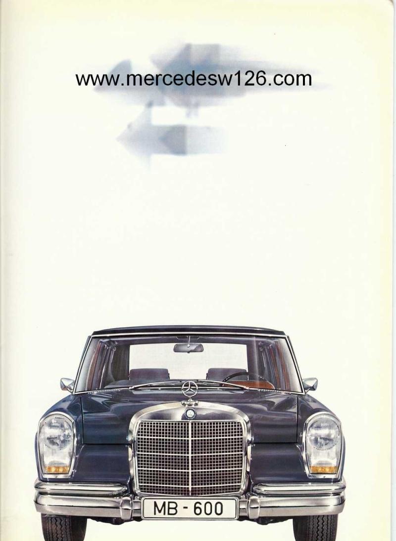Catalogue de 1968 sur la Mercedes W100 600 W100_112