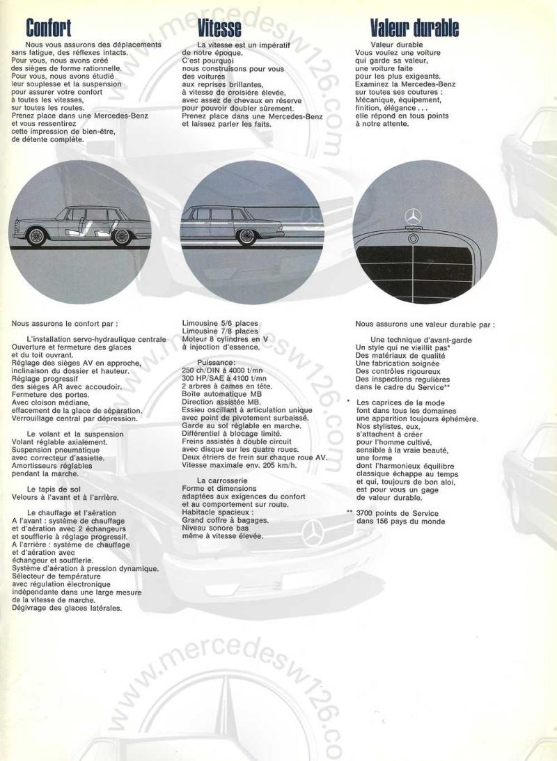 Catalogue de 1968 sur la Mercedes W100 600 W100_114