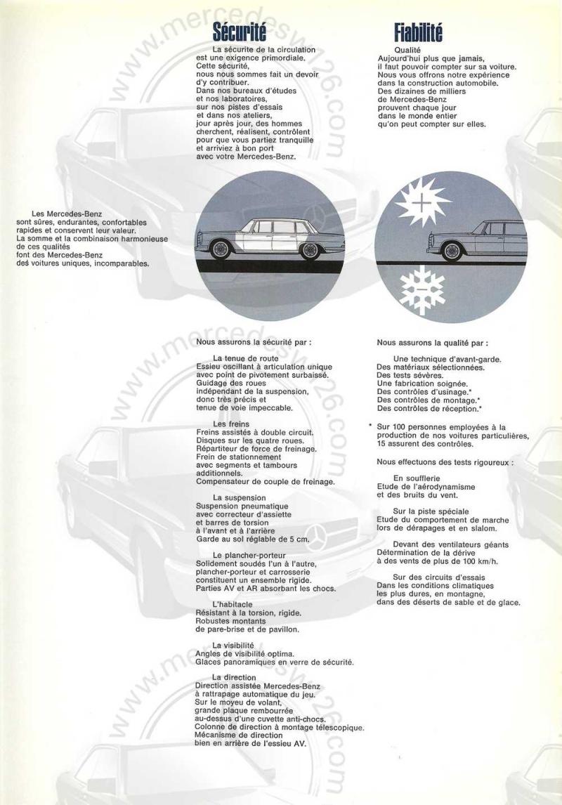 Catalogue de 1968 sur la Mercedes W100 600 W100_115