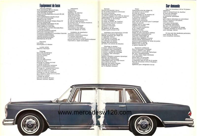 Catalogue de 1968 sur la Mercedes W100 600 W100_116