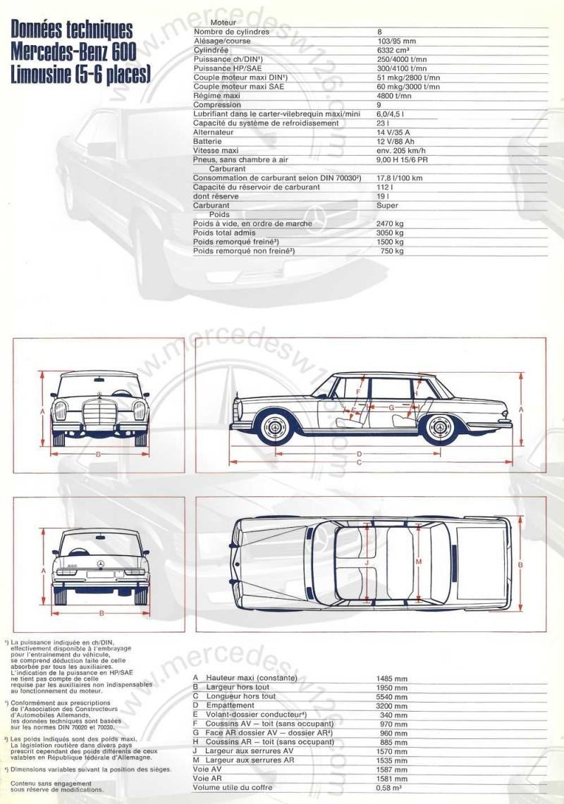 Catalogue de 1968 sur la Mercedes W100 600 W100_119