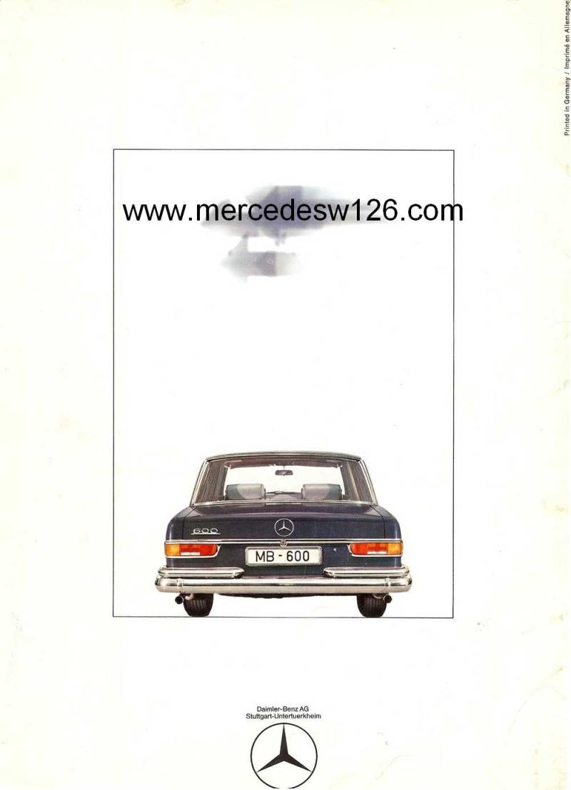 Catalogue de 1968 sur la Mercedes W100 600 W100_120