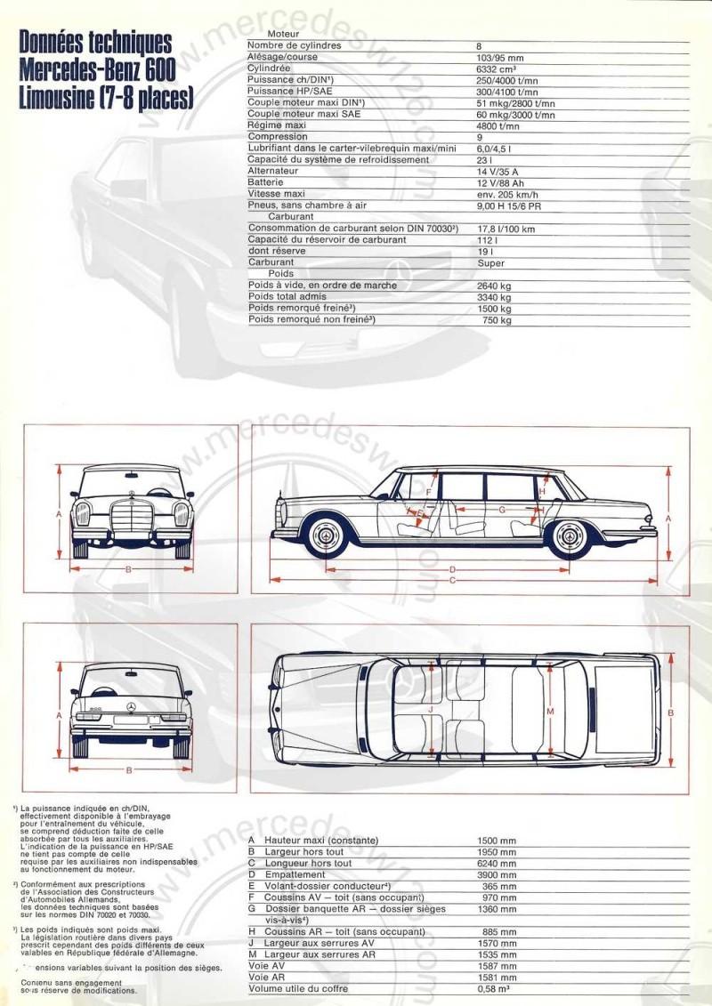 Catalogue de 1968 sur la Mercedes W100 600 W100_122