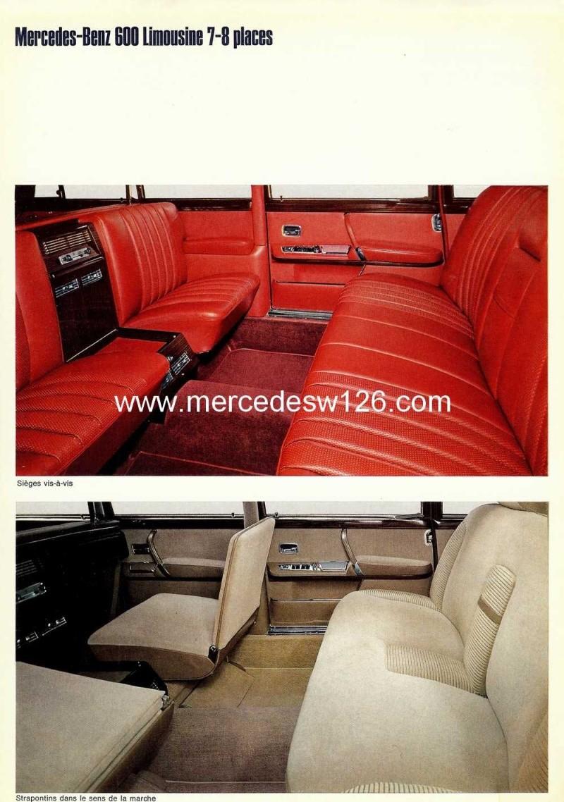 Catalogue de 1968 sur la Mercedes W100 600 W100_123