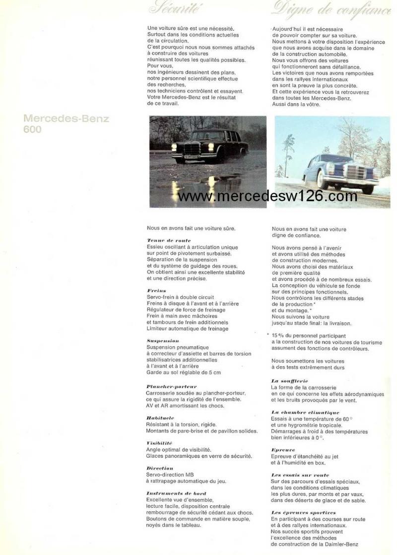 Catalogue de 1967 sur la Mercedes W100 600 W100_125
