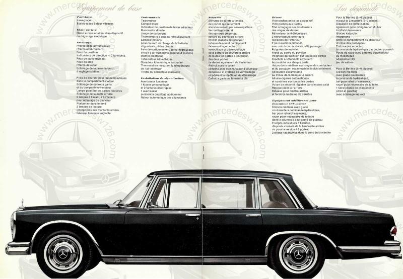 Catalogue de 1967 sur la Mercedes W100 600 W100_127