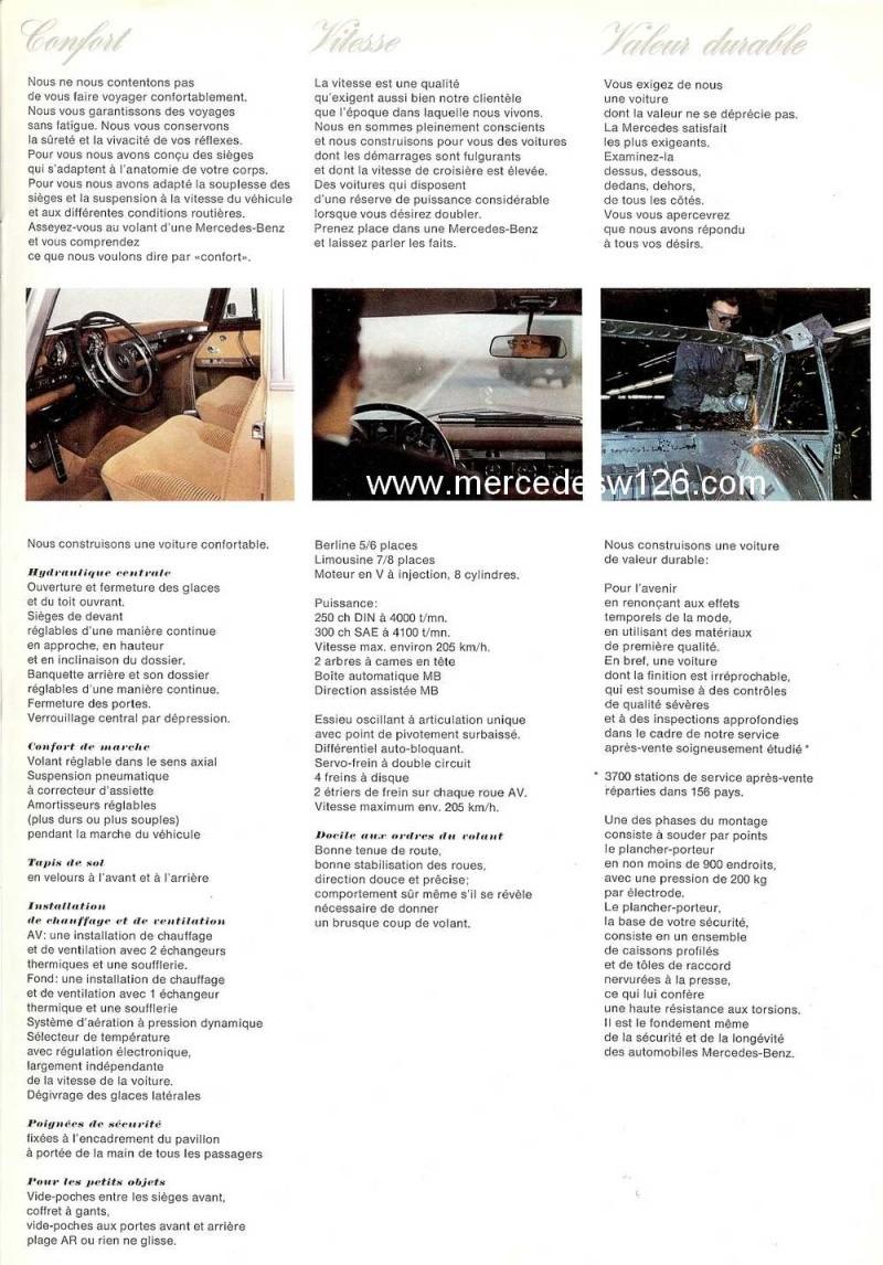Catalogue de 1967 sur la Mercedes W100 600 W100_129