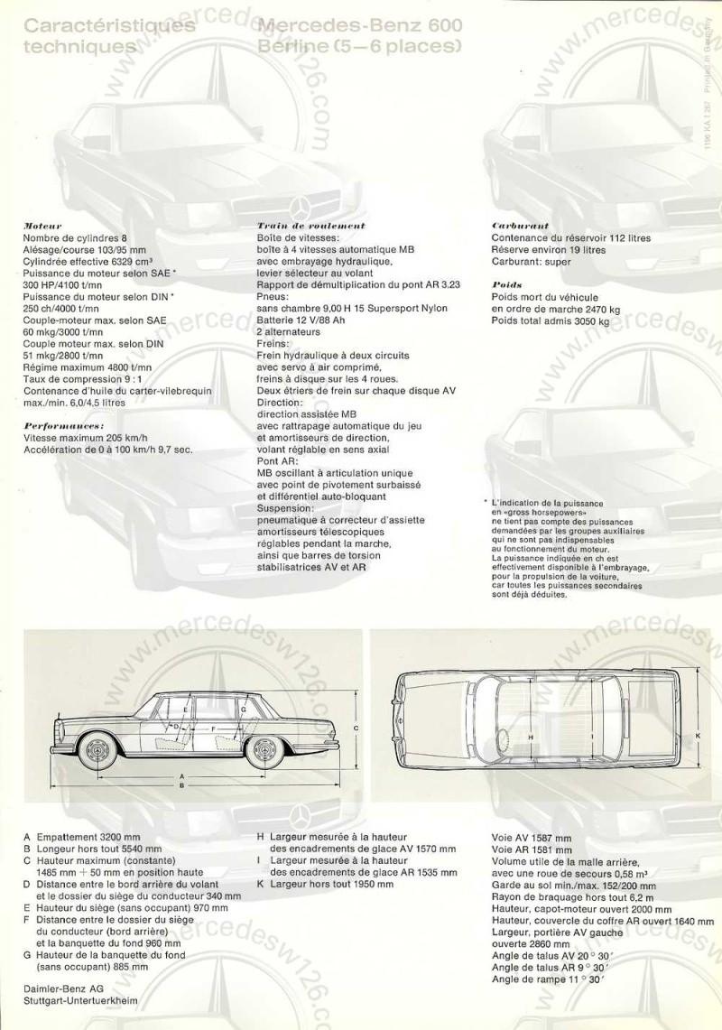 Catalogue de 1967 sur la Mercedes W100 600 W100_134