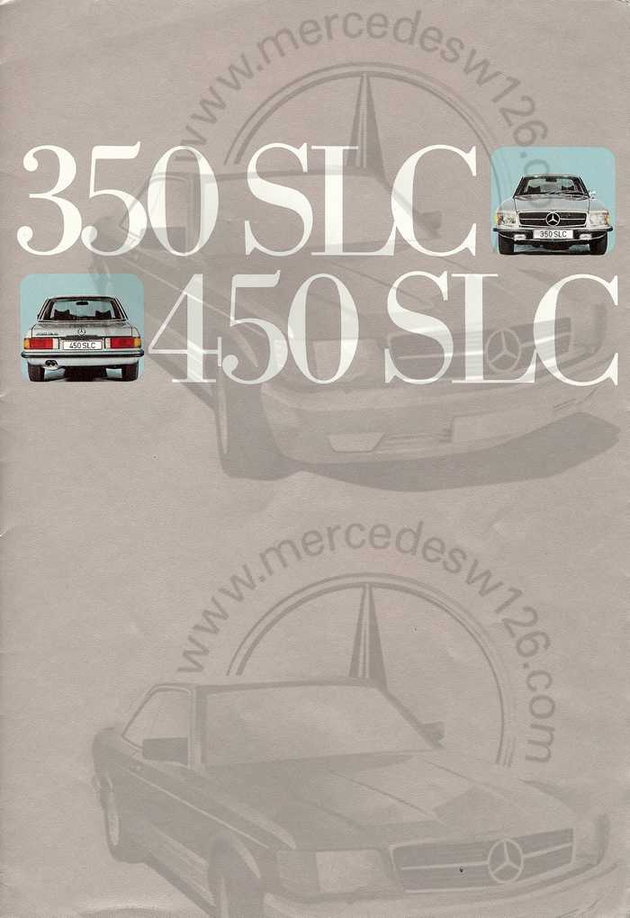 Catalogue Mercedes 350 & 450 SLC en mars 1973 W107_150