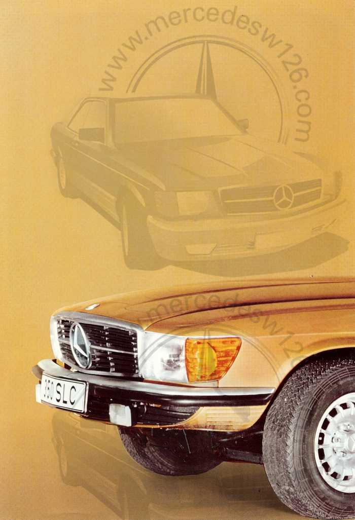 Catalogue Mercedes 350 & 450 SLC en mars 1973 W107_151