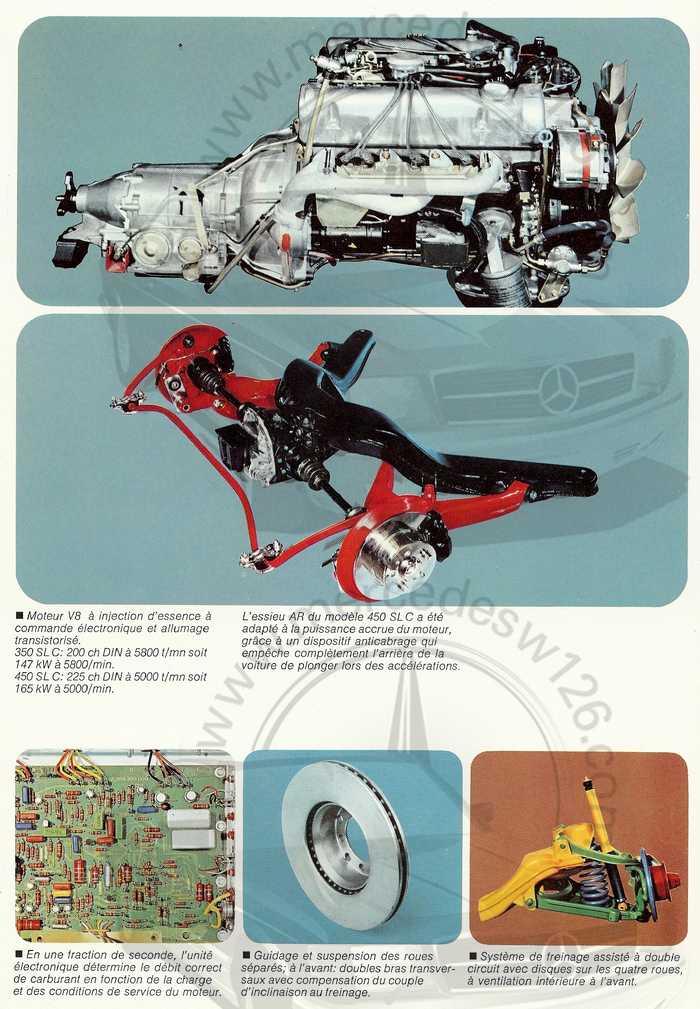 Catalogue Mercedes 350 & 450 SLC en mars 1973 W107_152