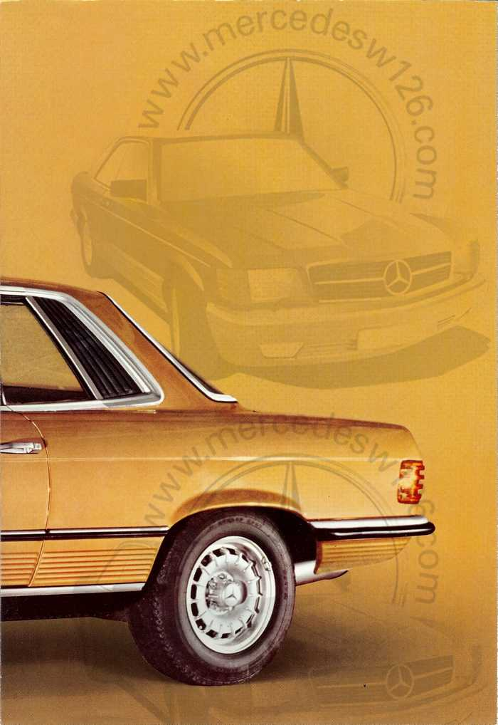 Catalogue Mercedes 350 & 450 SLC en mars 1973 W107_153