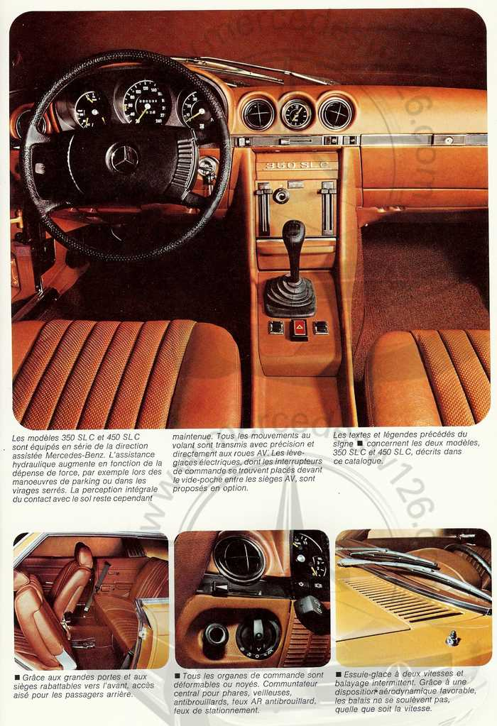 Catalogue Mercedes 350 & 450 SLC en mars 1973 W107_155