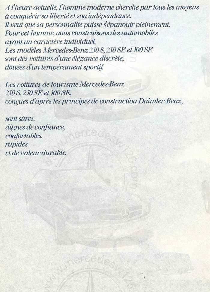 Catalogue de 1967 sur les Mercedes W108 250 S, 250 SE et 300 SE W108_111