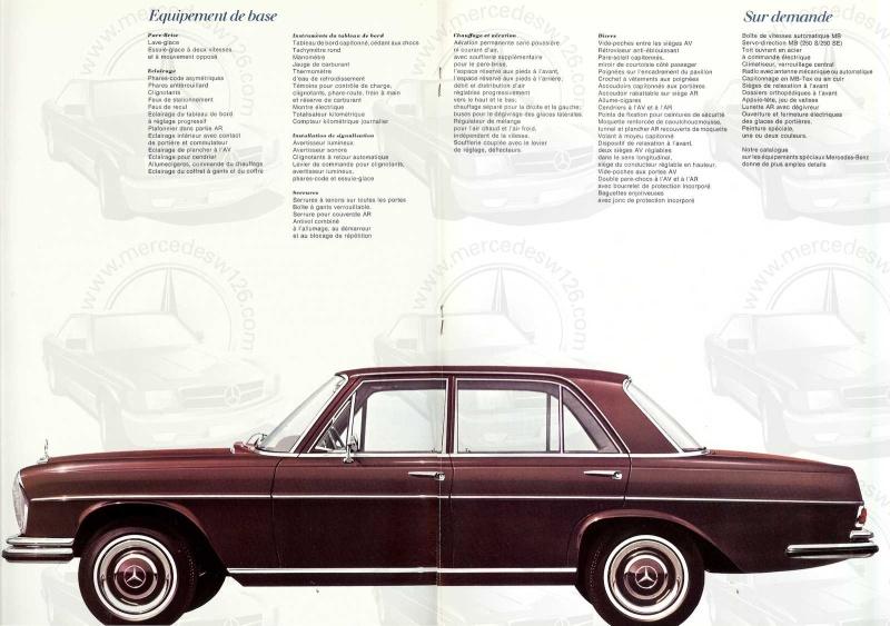 Catalogue de 1967 sur les Mercedes W108 250 S, 250 SE et 300 SE W108_112
