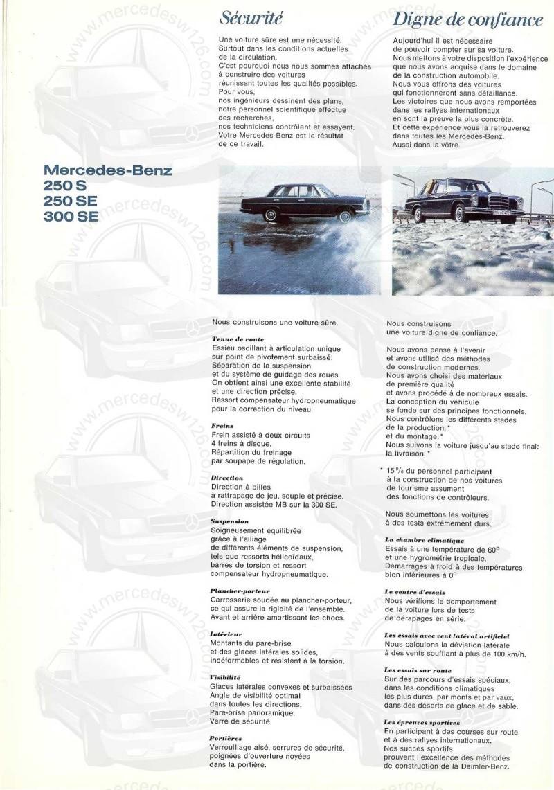 Catalogue de 1967 sur les Mercedes W108 250 S, 250 SE et 300 SE W108_114