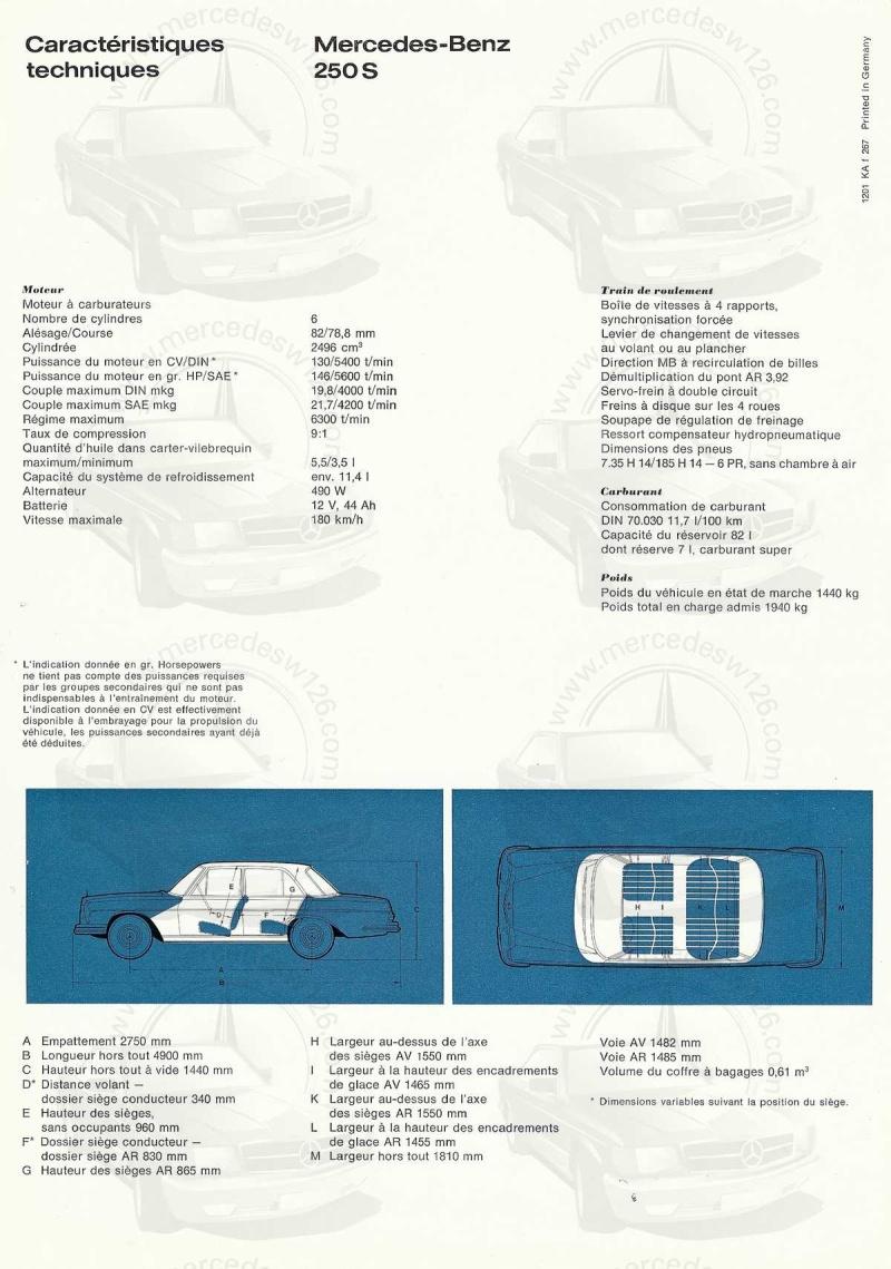 Catalogue de 1967 sur les Mercedes W108 250 S, 250 SE et 300 SE W108_116