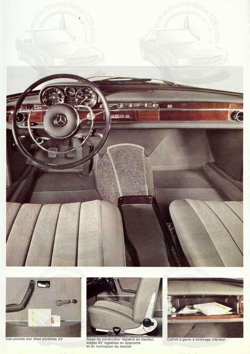 Catalogue de 1967 sur les Mercedes W108 250 S, 250 SE et 300 SE W108_117