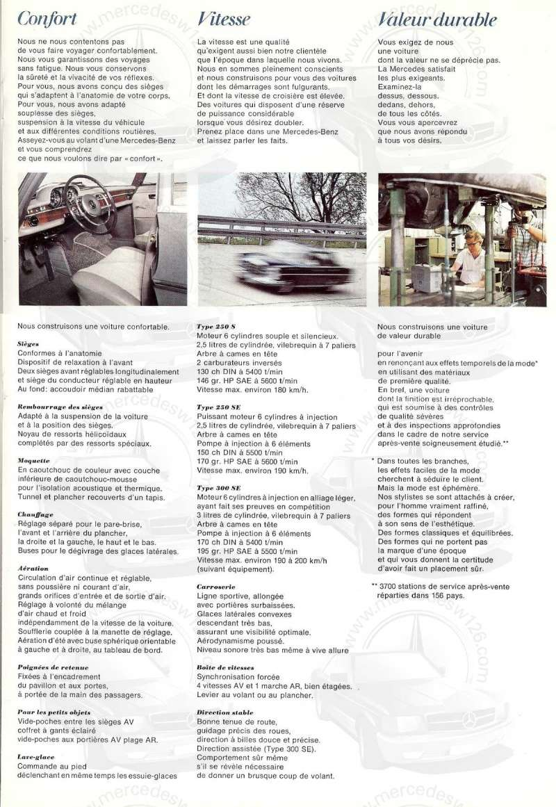 Catalogue de 1967 sur les Mercedes W108 250 S, 250 SE et 300 SE W108_118