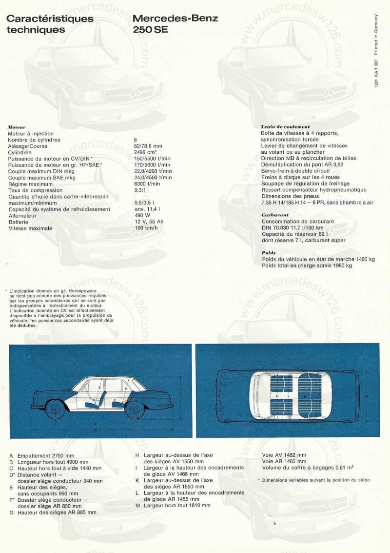 Catalogue de 1967 sur les Mercedes W108 250 S, 250 SE et 300 SE W108_119