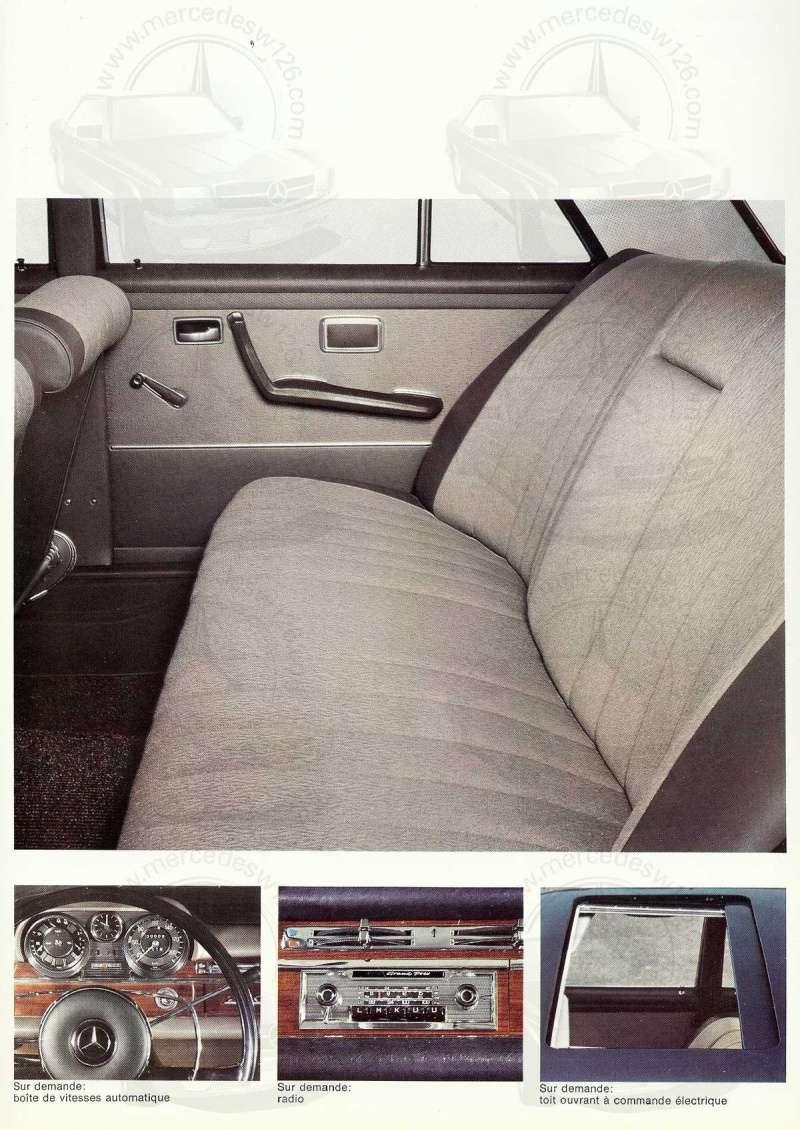 Catalogue de 1967 sur les Mercedes W108 250 S, 250 SE et 300 SE W108_120