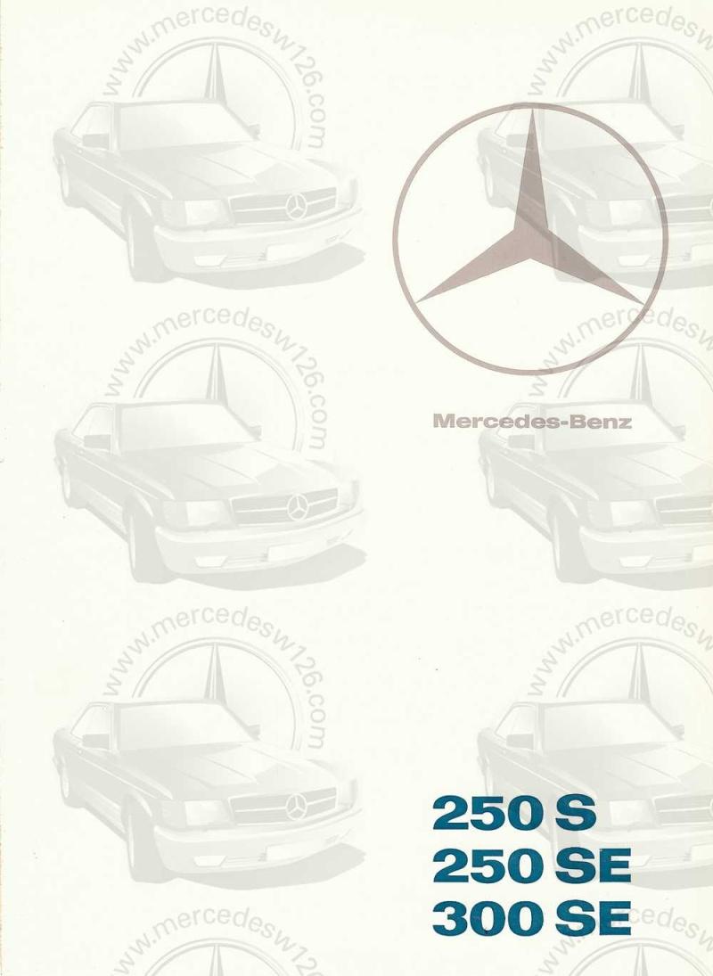 Catalogue de 1965 sur les Mercedes W108 250 S, 250 SE et 300 SE W108_122