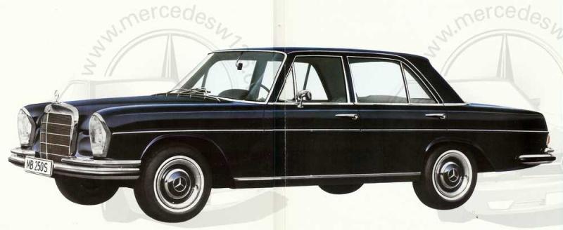 Catalogue de 1965 sur les Mercedes W108 250 S, 250 SE et 300 SE W108_123