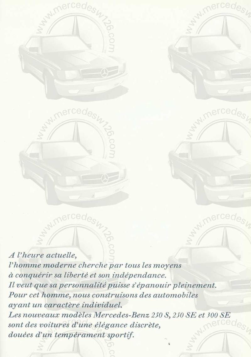 Catalogue de 1965 sur les Mercedes W108 250 S, 250 SE et 300 SE W108_124
