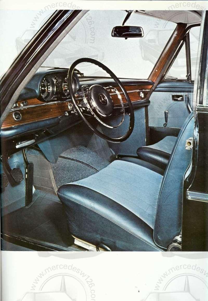 Catalogue de 1965 sur les Mercedes W108 250 S, 250 SE et 300 SE W108_125