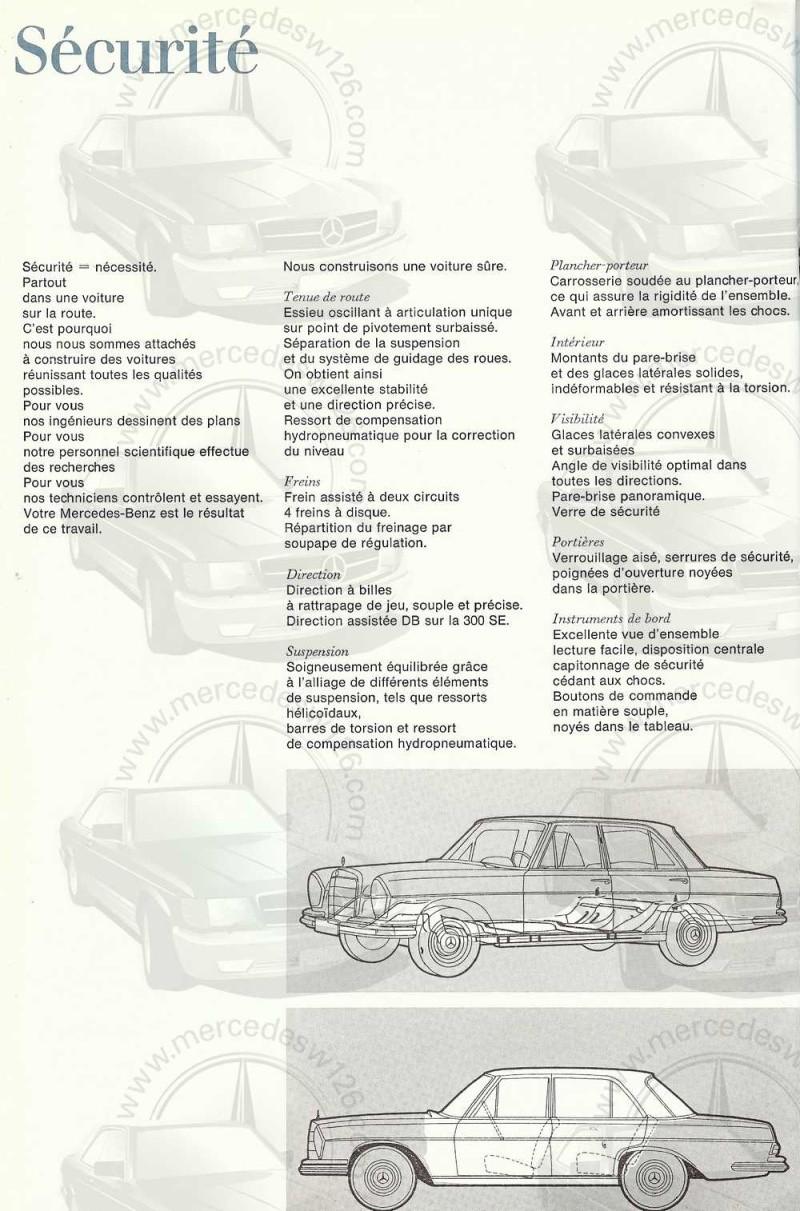 Catalogue de 1965 sur les Mercedes W108 250 S, 250 SE et 300 SE W108_127
