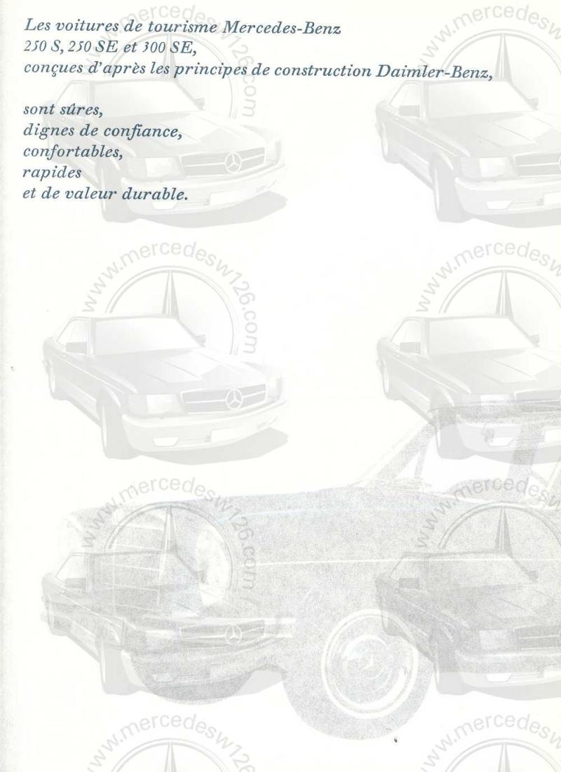 Catalogue de 1965 sur les Mercedes W108 250 S, 250 SE et 300 SE W108_128