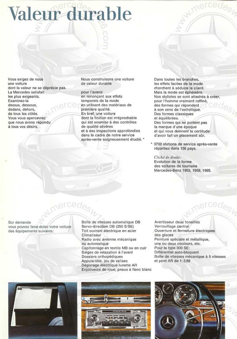 Catalogue de 1965 sur les Mercedes W108 250 S, 250 SE et 300 SE W108_135