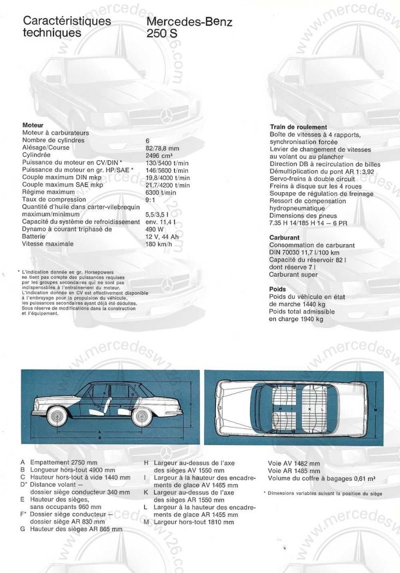 Catalogue de 1965 sur les Mercedes W108 250 S, 250 SE et 300 SE W108_136