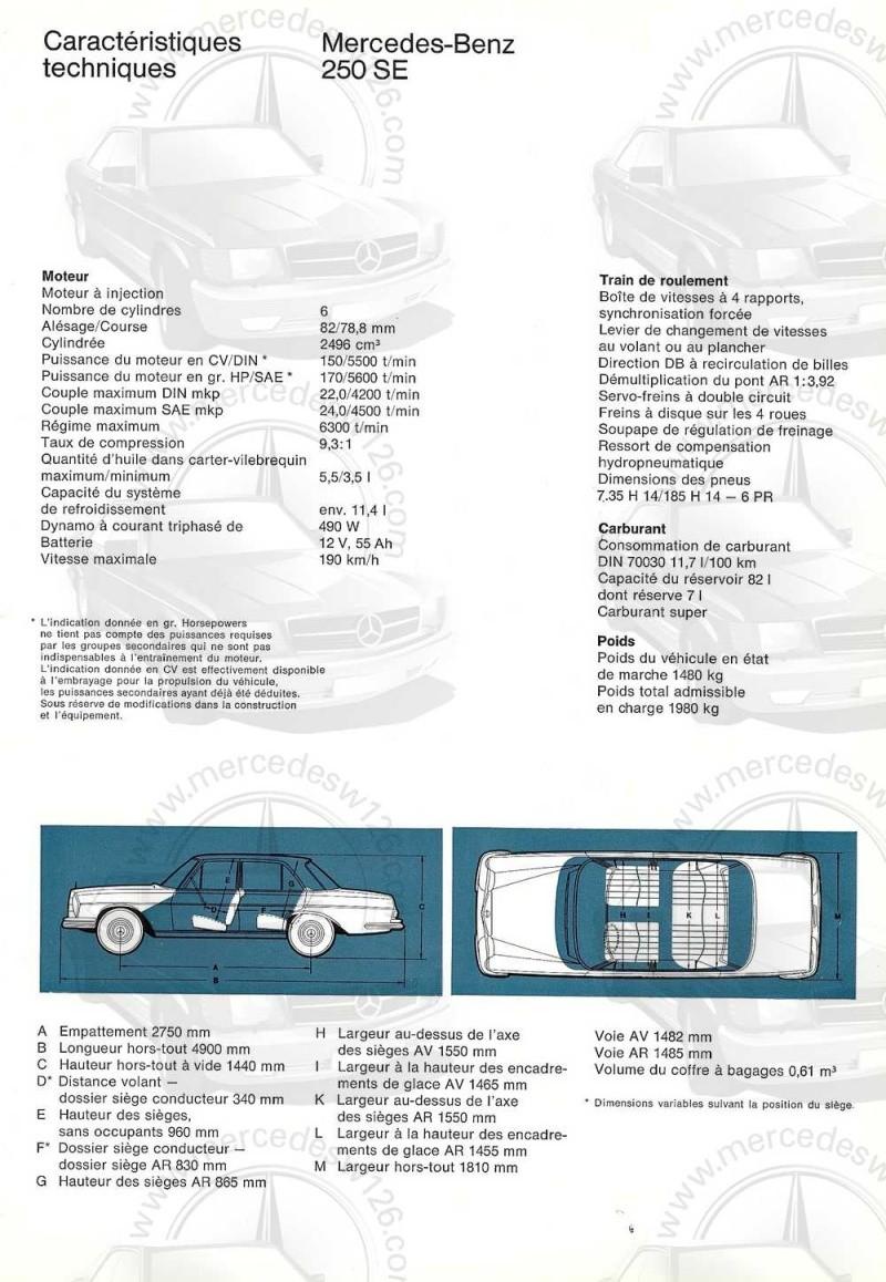 Catalogue de 1965 sur les Mercedes W108 250 S, 250 SE et 300 SE W108_143
