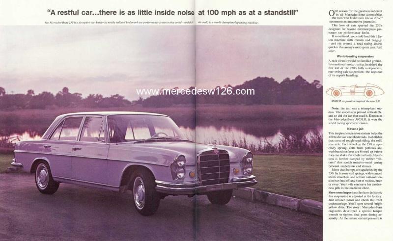 Catalogue de 1966 sur les Mercedes W108 250 américaines W108_225