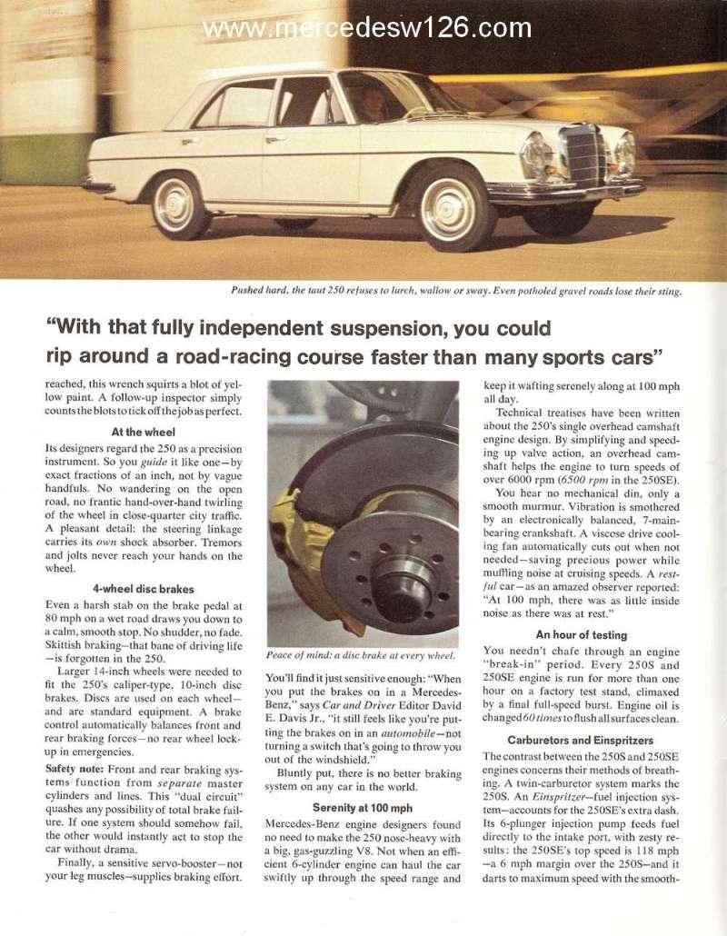 Catalogue de 1966 sur les Mercedes W108 250 américaines W108_227