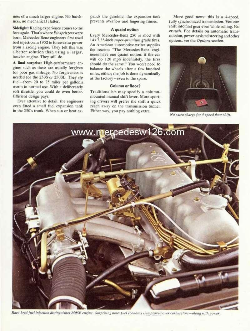 Catalogue de 1966 sur les Mercedes W108 250 américaines W108_228