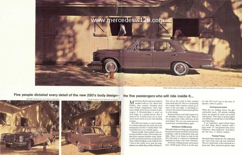 Catalogue de 1966 sur les Mercedes W108 250 américaines W108_229
