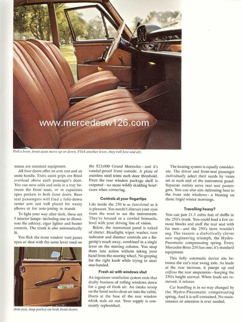 Catalogue de 1966 sur les Mercedes W108 250 américaines W108_230