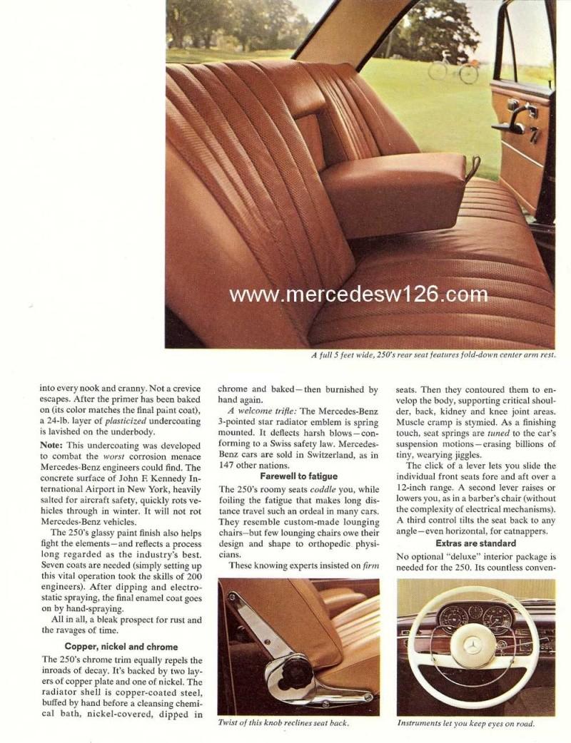 Catalogue de 1966 sur les Mercedes W108 250 américaines W108_232