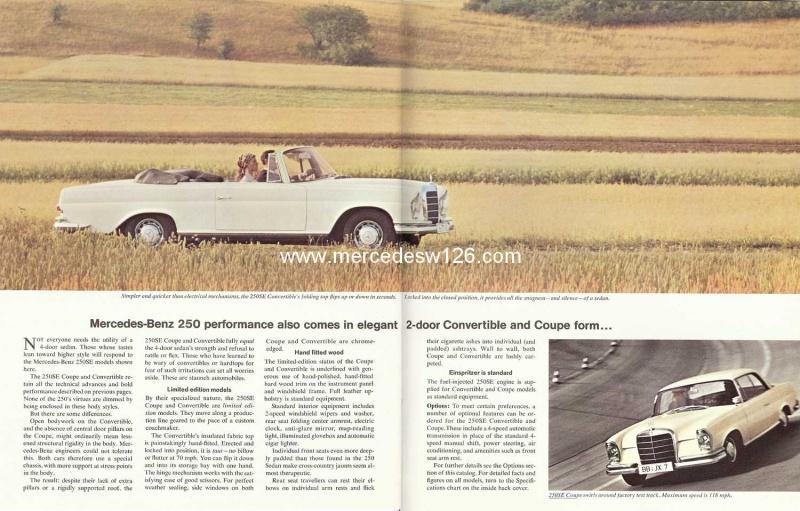 Catalogue de 1966 sur les Mercedes W108 250 américaines W108_233