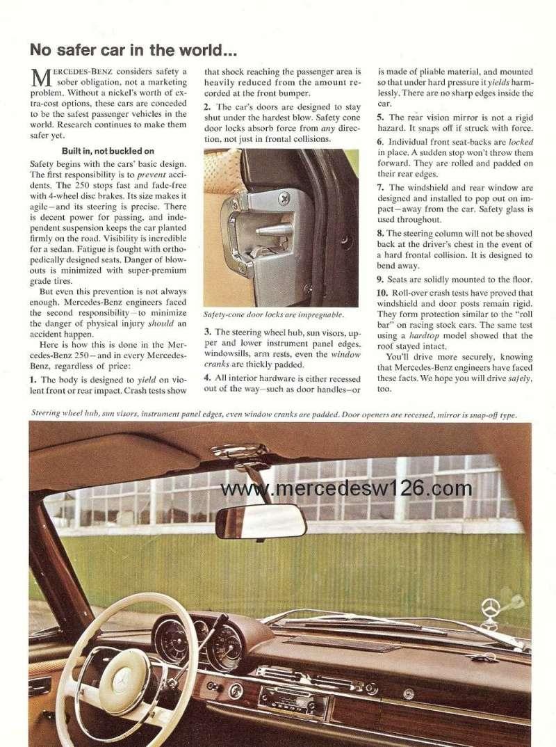 Catalogue de 1966 sur les Mercedes W108 250 américaines W108_235