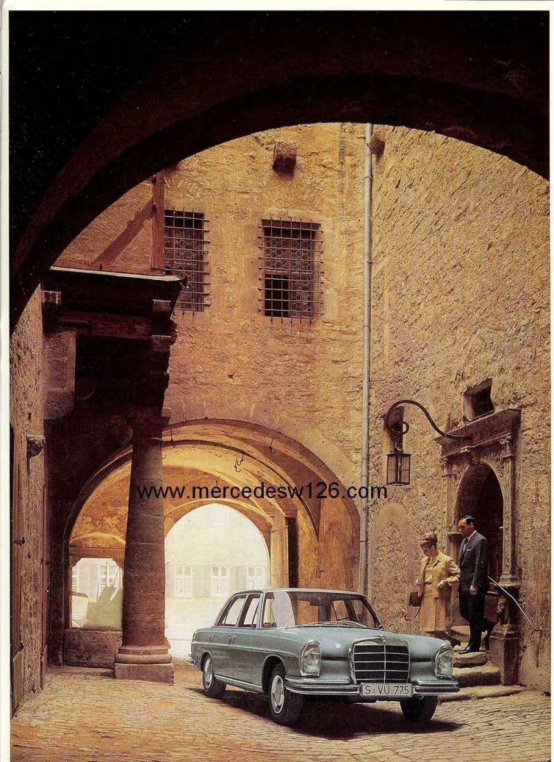 Catalogue de 1967 sur la Mercedes W109 300 SEL W109_312