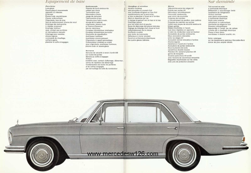 Catalogue de 1967 sur la Mercedes W109 300 SEL W109_313