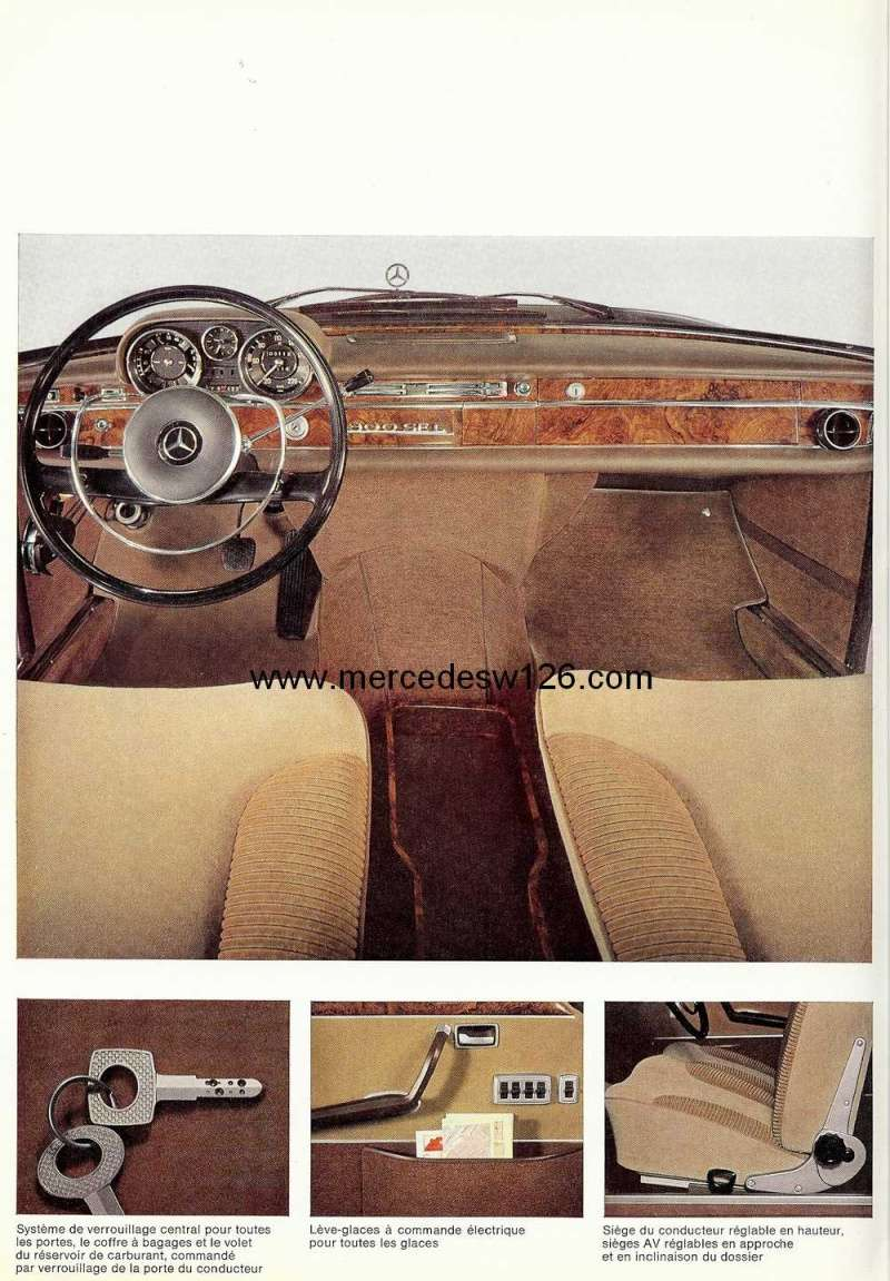 Catalogue de 1967 sur la Mercedes W109 300 SEL W109_314