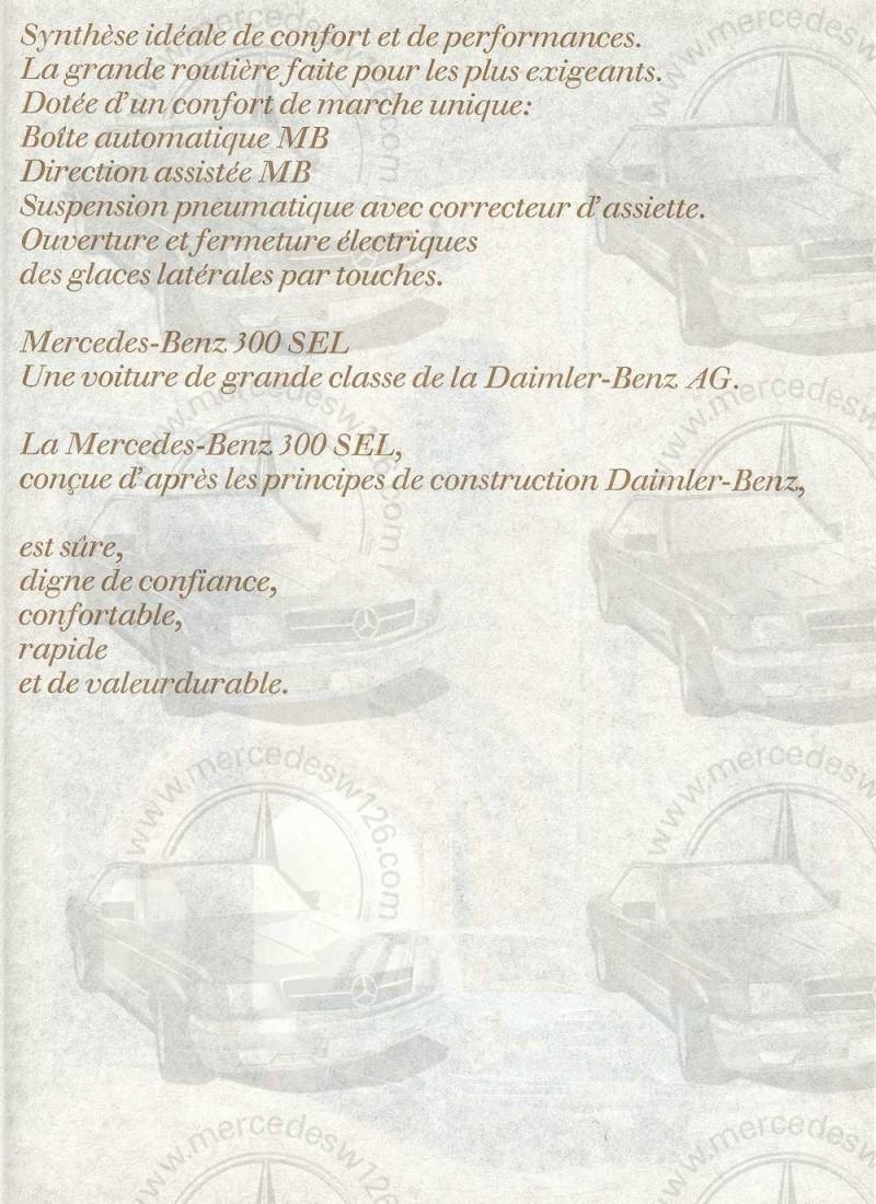 Catalogue de 1967 sur la Mercedes W109 300 SEL W109_324