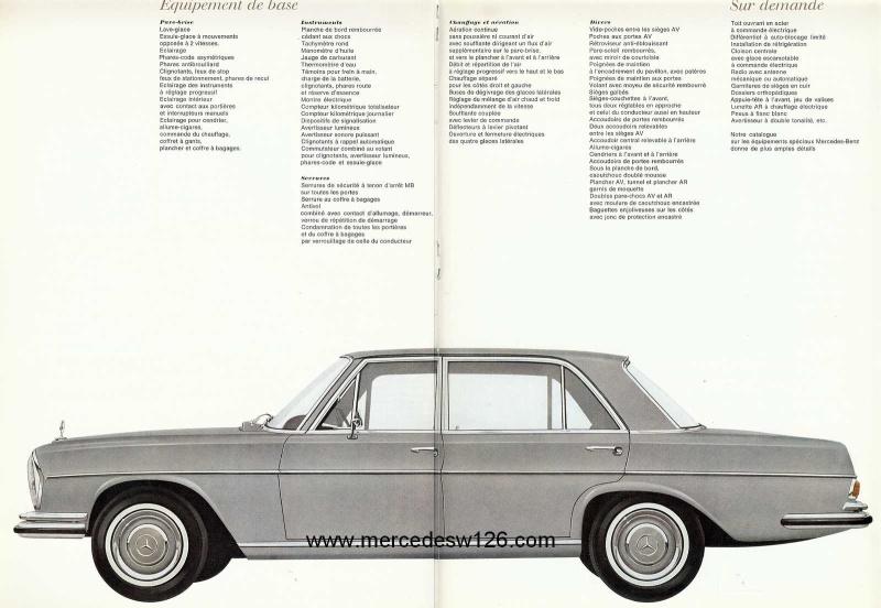 Catalogue de 1967 sur la Mercedes W109 300 SEL W109_326