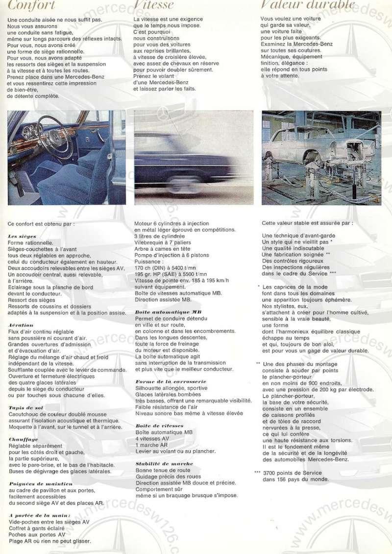 Catalogue de 1967 sur la Mercedes W109 300 SEL W109_327